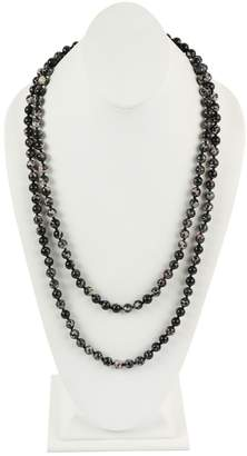 Riah Fashion 60-Inches Marble-Beads Long-Necklace