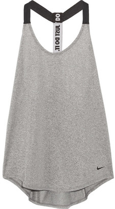 Nike - Mesh-trimmed Dri-fit Stretch-jersey Tank - Gray $35 thestylecure.com