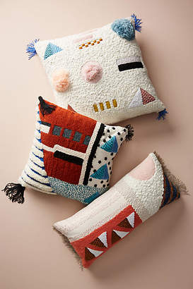 Anthropologie Embellished Shape Study Pillow