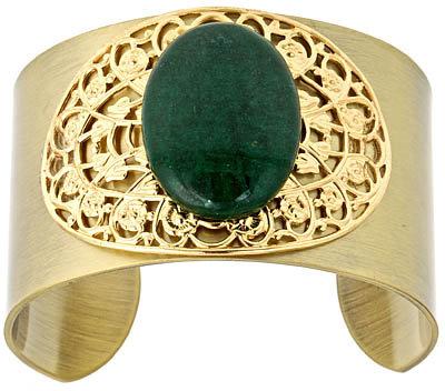 K Amato Emerald Glass Cuff