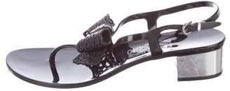 Salvatore Ferragamo Bow Thong Sandals