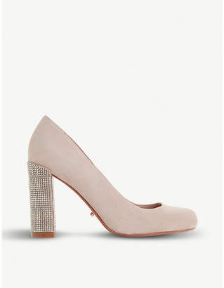 Dune Bling embellished suede court shoes
