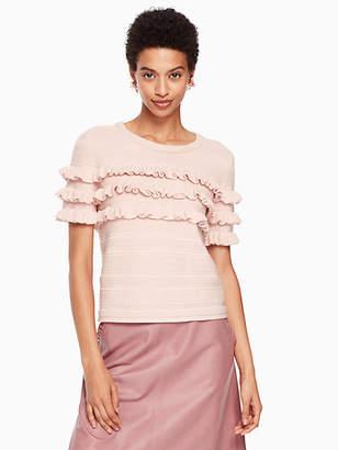 Kate Spade Ruffle short sleeve sweater