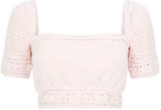 She Made Me Crochet Crop Top