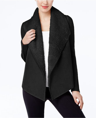 Grace Elements Faux-Shearling Cardigan $90 thestylecure.com