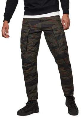 G Star Camo-Print Cotton Cargo Pants