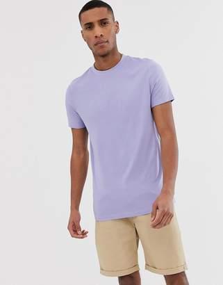 Asos Design DESIGN organic t-shirt with crew neck in purple