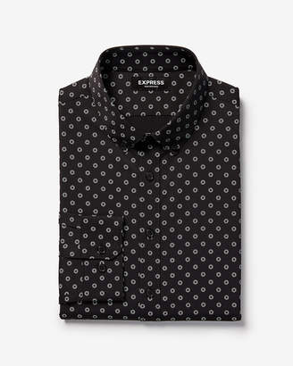 Express Slim Small Burst Wrinkle-Resistant Performance Dress Shirt