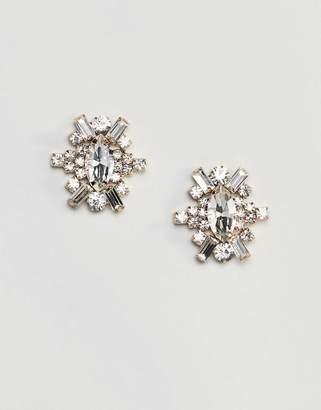True Decadence Oval Embellished Stud Earrings