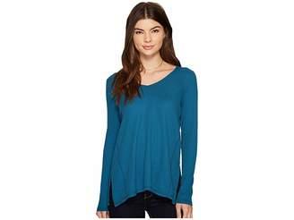 Kensie Waffle Long Sleeve Top KS9K3413 Women's Clothing