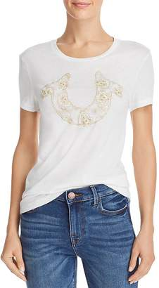 a08a9ae4dc True Religion Floral Horseshoe Graphic Tee