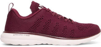 APL Athletic Propulsion Labs Techloom Pro Mesh Sneakers - Merlot