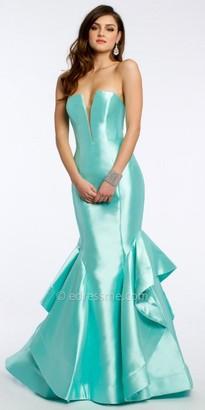 Jovani Strapless Mikado Prom Dress $598 thestylecure.com