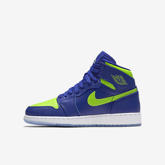 Air Jordan 1 Retro High Big Kids' Shoe (3.5y-7y) $95 thestylecure.com