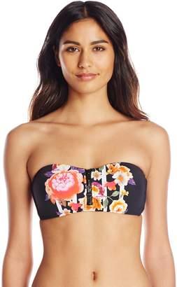 Seafolly Women's Romeo Rose Zip Front Bandeau Bikini Top