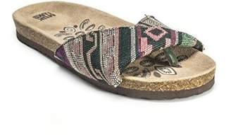 Muk Luks Women's Lucy Folded Strap Fisherman Sandal