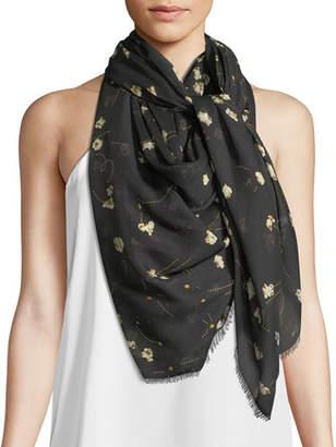 Rockins Popcorn Modal-Silk Scarf