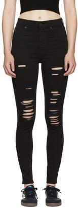 Levi's Levis Black Mile High Super Skinny Jeans