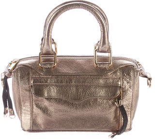 Rebecca Minkoff Metallic Leather Satchel $85 thestylecure.com