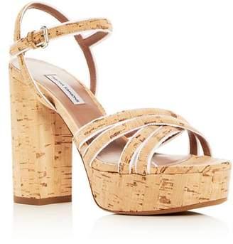 Tabitha Simmons Women's Hensley Cork Platform High-Heel Sandals