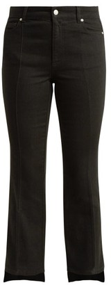 Alexander McQueen Cropped Kick Flare Step Hem Jeans - Womens - Black