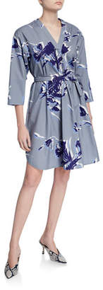 Piazza Sempione Shirttail Hem V-Neck Dress