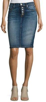 Hudson Helena High-Rise Denim Pencil Skirt, Indigo $195 thestylecure.com