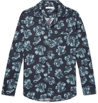 Desmond & Dempsey - Victor Printed Cotton Pyjama Shirt - Men - Blue