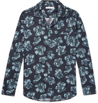 Desmond & Dempsey - Victor Printed Cotton Pyjama Shirt - Blue