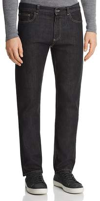 Canali Stretch New Tapered Fit Jeans in Black Denim
