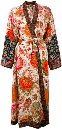 Anjuna printed silk kimono