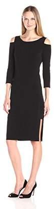 Velvet by Graham & Spencer Women's Stretch Jersey Cold Shoulder Dress