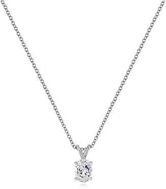 Swarovski Sterling Silver Zirconia Oval Solitaire Pendant (1.5 cttw)