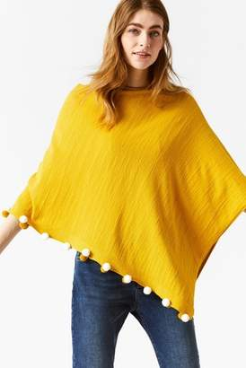 22008eab26a Next Womens White Stuff Yellow Savannah Summer Poncho