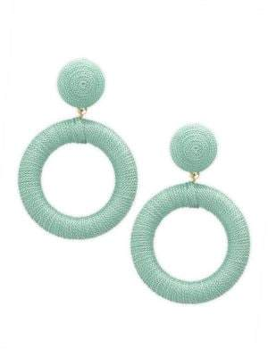 Panacea Cord Wrapped Circle Drop Earrings