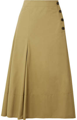 Joseph Smith Cotton-twill Midi Skirt - Sand