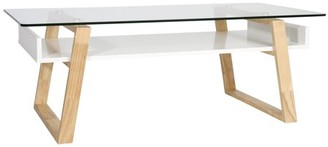 Poly and Bark Segovia Glass Top Coffee Table in Natural
