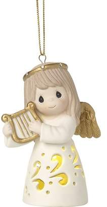 Precious Moments Make Sweet Melody Lighted Bisque Porcelain Ornament Hanging Figurine