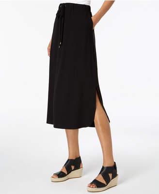 Eileen Fisher Stretch Jersey Pull-On Midi Skirt, Regular & Petite