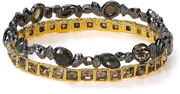 Alexis Bittar Elements Stacked Rocky Hinge Bangle