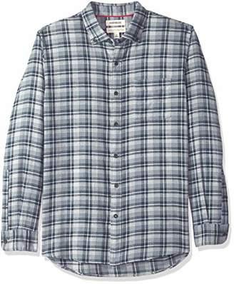 Goodthreads Men's Standard-Fit Long-Sleeve Plaid Heather Flannel Shirt