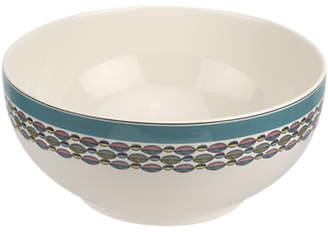 Portmeirion Westerly Leaf Print Deep Serving Bowl, Dia.27cm, Turquoise/Multi