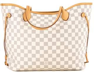 Louis Vuitton Damier Azur Canvas Neverfull MM Bag (Pre Owned)