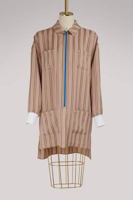 Esteban Cortazar Striped shirt-dress