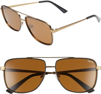 Quay Modern Times 57mm Polarized Aviator Sunglasses