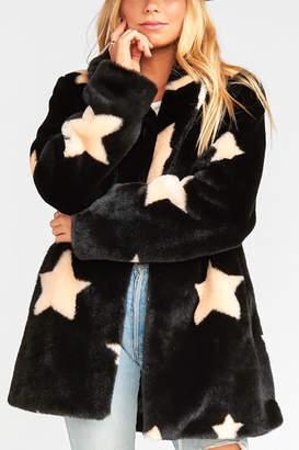 Show Me Your Mumu Colorado Star Faux Fur Jacket