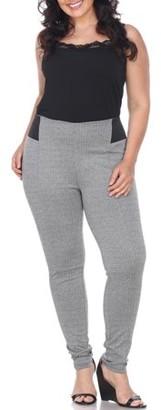 White Mark Women's Plus Size High Waisted Leggings