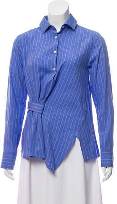 Palmer Harding palmer//harding Twist-Accented Striped Top w/ Tags