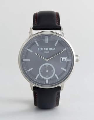 Ben Sherman WB071BB Watch In Black Leather