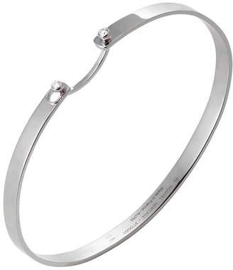 Nouvel Heritage 17cm Monday Morning Mood Bangle Bracelet - White Gold